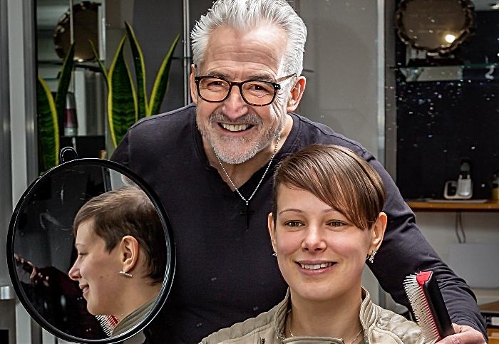 Steve Burgin and Anya Hynes - wigs cancer charity