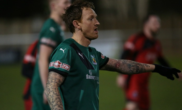 FA Cup win at Shepshed - Steve Jones, Nantwich Town v Bamber Bridge
