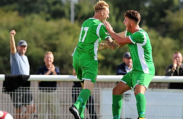 Steve Jones celebrates winner for Nantwich Town