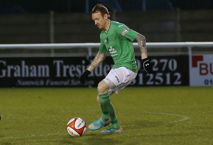 Steve Jones, of Nantwich Town, hailed by Chris Parkes - pic by Simon J Newbury Photography