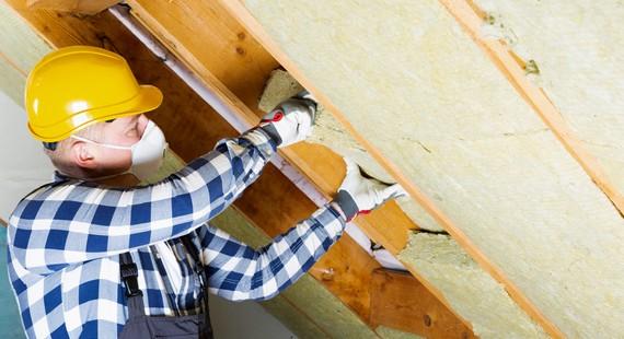 Green Homes - Stock image - loft insulation in progress 570 x 310