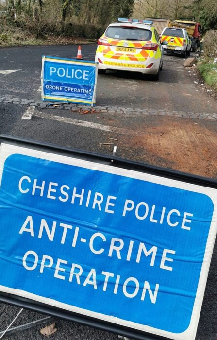 Stop checks were carried out near to particularly busy arterial routes into Cheshire (1)