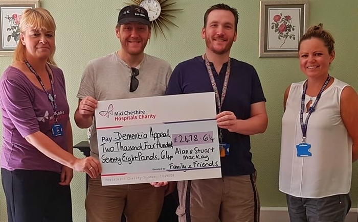 Stuart & Alan - brothers walk for leighton hospital dementia appeal