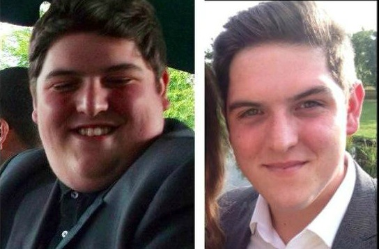 Stuart Vaughan before and after he lost weight