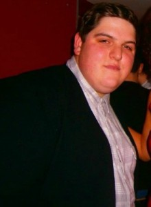 Stuart Vaughan before he lost weight