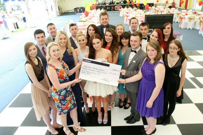 Student Association, Reaseheath College, raising for Macmillan Cancer Support