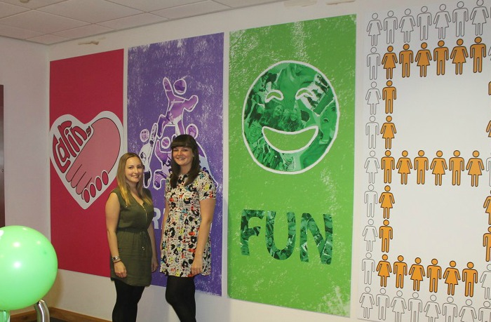 Student designers See Work Up In Lights At Expert Logistics 1