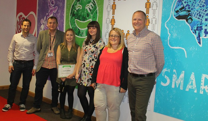 Student designers See Work Up In Lights At Expert Logistics