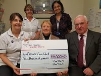 Nantwich patient raise £4,000 for Breast Care Unit team