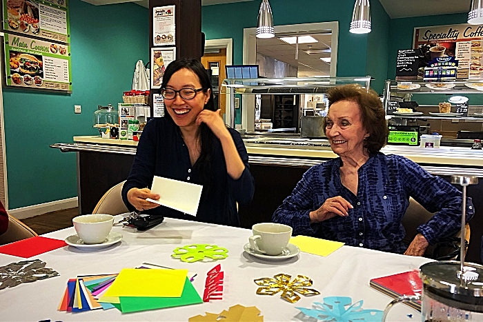 dementia project - Suki Chan and resident Betty Townsend (1)