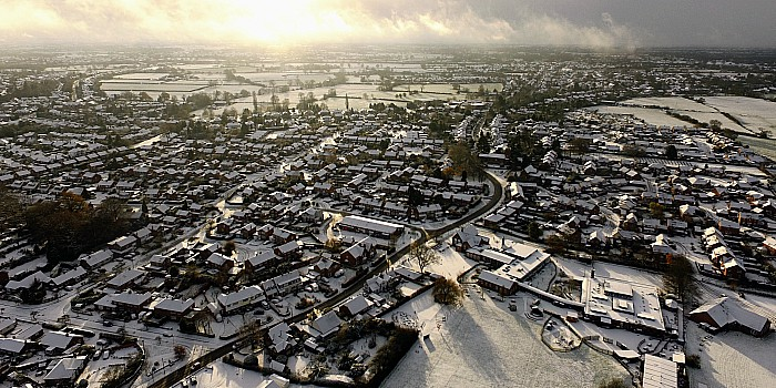 Sunshine and snow at Wistaston and beyond