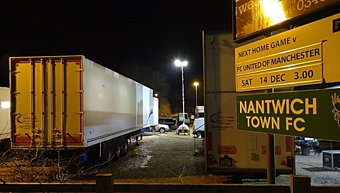 Support vehicles at Nantwich Town Football Club overflow carpark (1) (1)