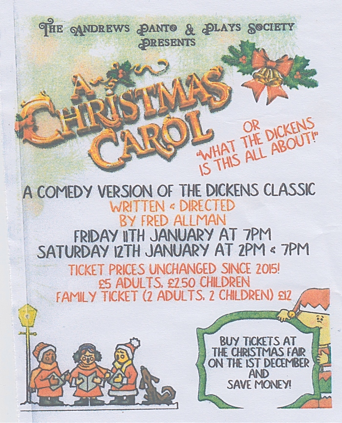 When Was A Christmas Carol Written.Andrews Panto Plays Society To Stage Comedy Christmas
