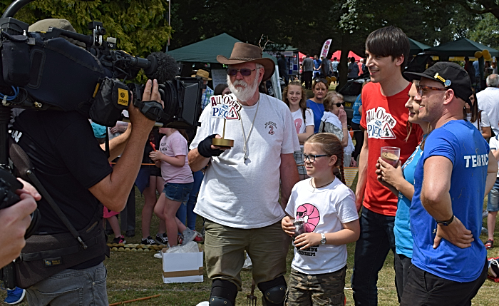 TV crew films for CBBC childrens programme All Over the Place (1)