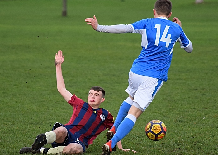 Talbot player looks to tackle the ball (1)
