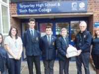 Pupils given life-saving defibrillator for Tarporley High School