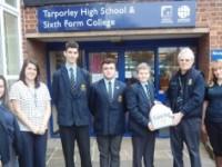 Pupils given life-saving defibrillator for Tarporley High School