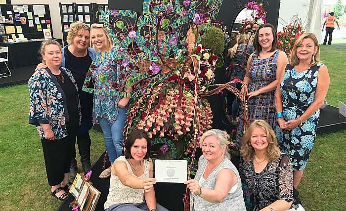 Student florists at Reaseheath - Team silver for Lola the showgirl