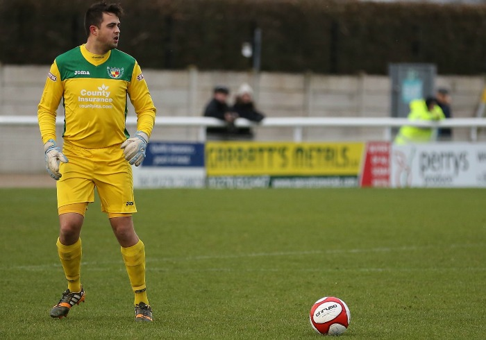 Terry Smith, Nantwich Town keeper, - pic by Simon J Newbury Photography