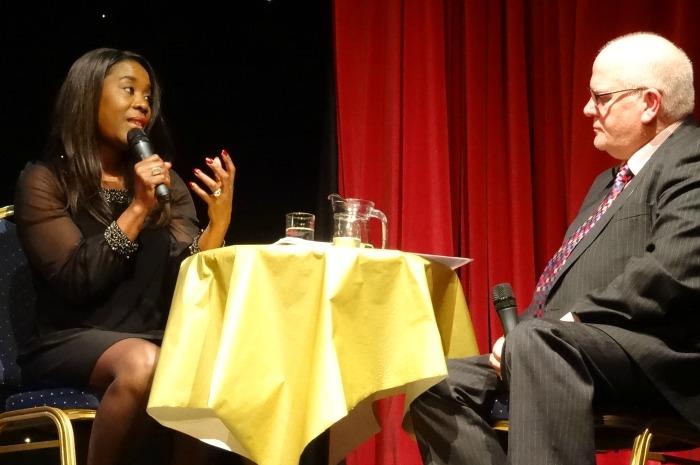 Tessa Sanderson in conversation with Rob Sproston (1)