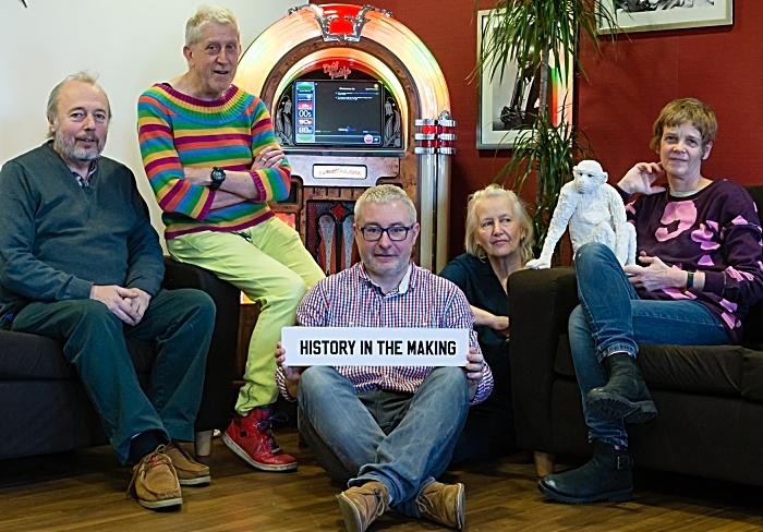 The Artists at Belong Crewe [L-R] Philip Jeck, Roger Hill, Alan Dunn, Mary Prestidge & Brigitte Jurack (1)