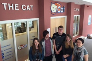 New signage for The Cat FM's South Cheshire College base