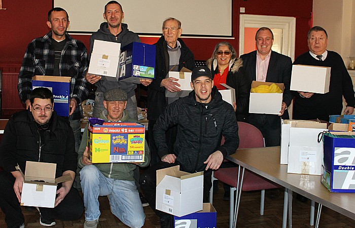 The Crystal Legal team presented the LATH Group volunteers and services users with gifts