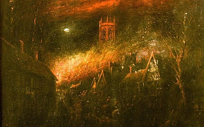 The Great Fire of Nantwich by Herbert St John Jones, Nantwich Museum (1)