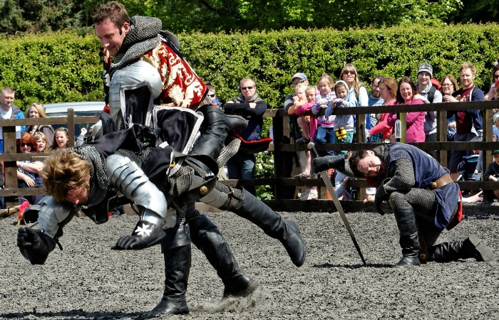 Family Festival - The Knights of Middle Englad battle it out on foot PIC ROY GADSDEN