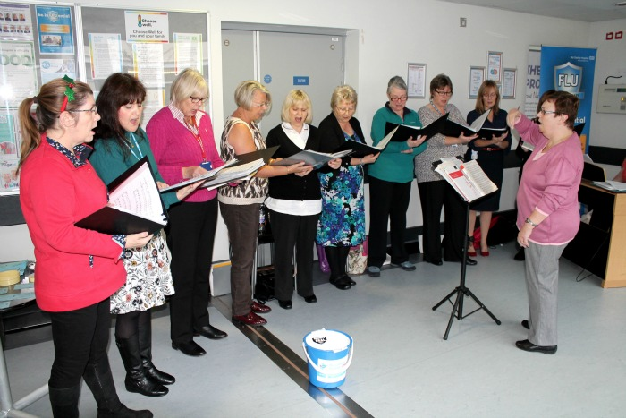 The Nightingales, choir for Mid Cheshire Hospitals Trust, in aid of scanner appeal