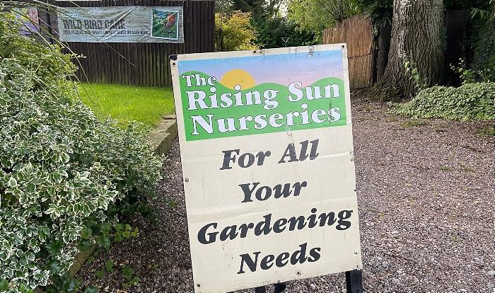 garden centre - The Rising Sun Nurseries - entrance sign (1)