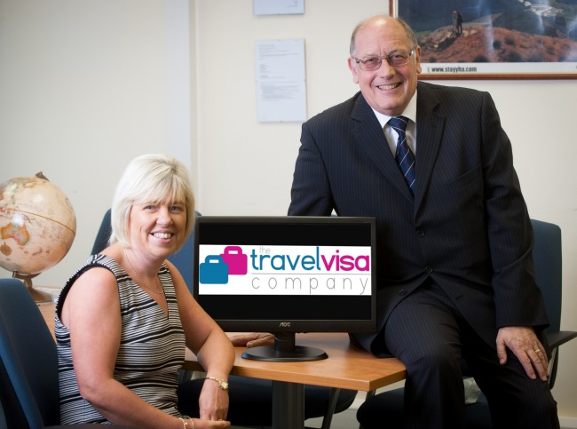 The Travel Visa Company co-founders Karen Taylor and Ray Ward (1)
