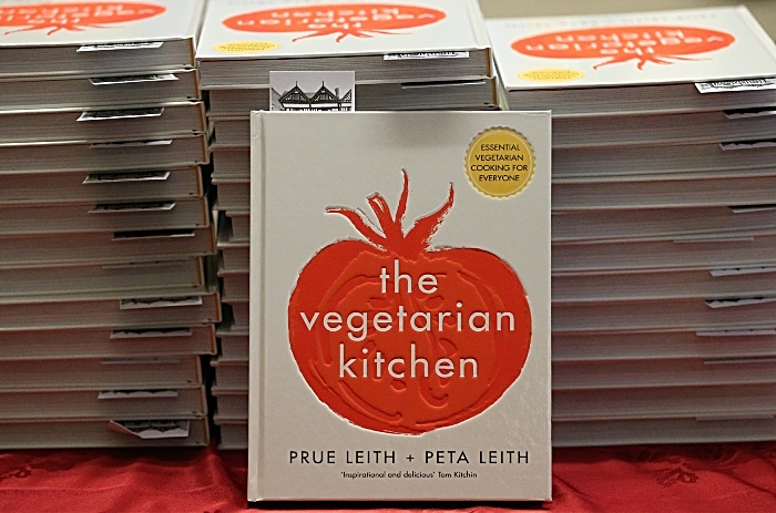 The Vegetarian Kitchen cookbook on display at the event (1)