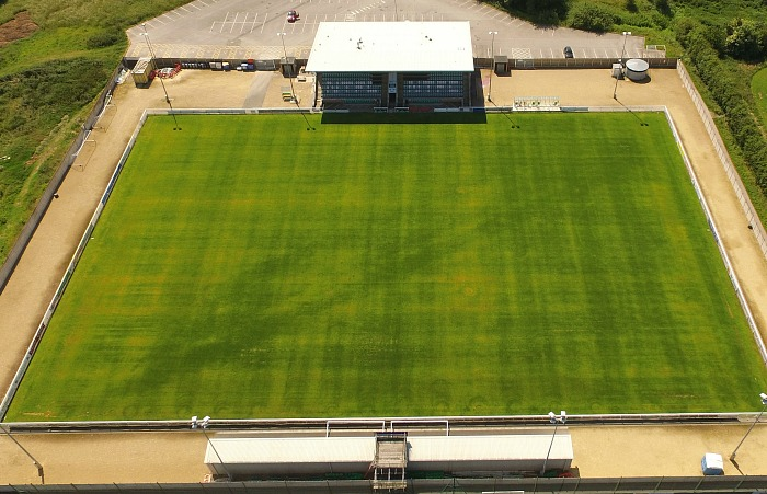 Weaver Stadium, Nantwich Town, aerial view by Jonathan White
