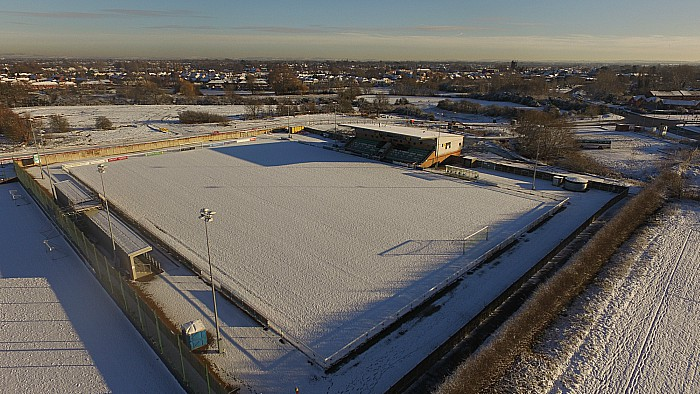 Fixtures - The Weaver Stadium in the snow (Mon 11-12-17)
