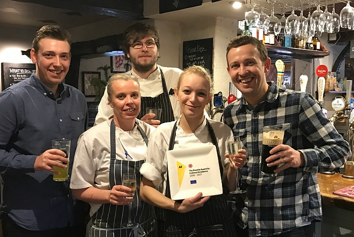 Toast - The Yew Tree celebrates double awards win.