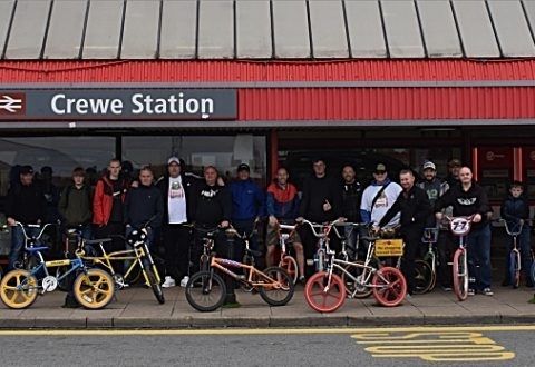 Bike fans enjoy Crewe and Cheshire old school BMX social ride