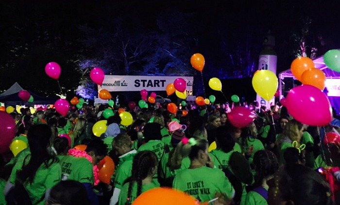 The start line - midnight walk