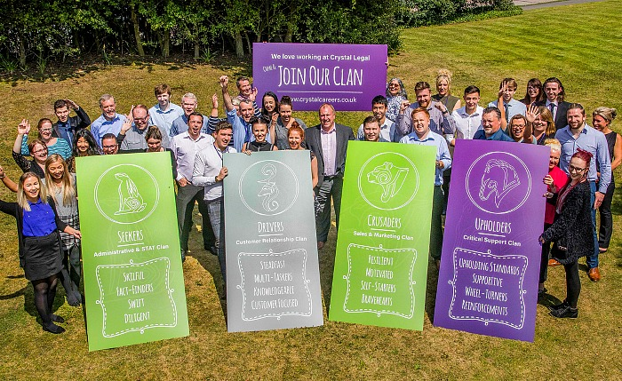 The team at Crystal Legal Services look forward to welcoming new recruits to their clans - 3