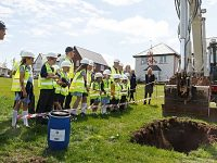 Wistaston pupils bury time capsule on new Wistaston Brook development