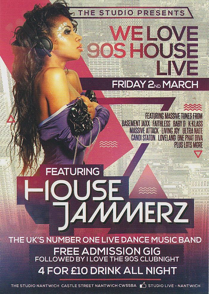 The Studio-Fri 2-3-18 We Love 90s House Live - poster