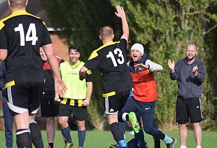 Third AFC Talbot goal - scorer celebrates (1)