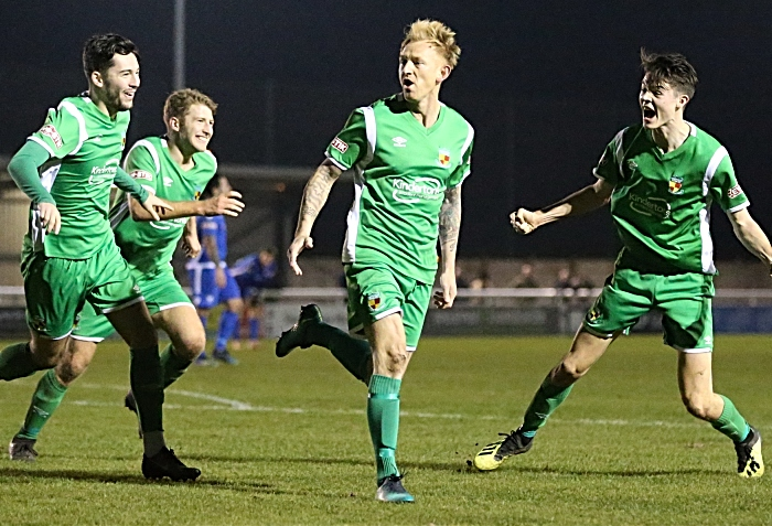 Third and winning Nantwich Town goal - Steve Jones celebrates (1)