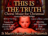 Nantwich Singers Christmas concert to be held in St Mary's Church