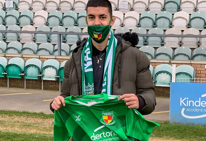 Thommy Montefiori signing for Nantwich Town
