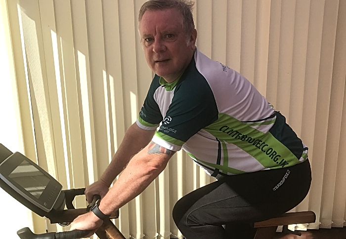 Tim Bowker - indoor cycle ride for NHS hospitals