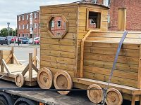 Timber firm TFC donates train to Leighton Hospital Children's Centre