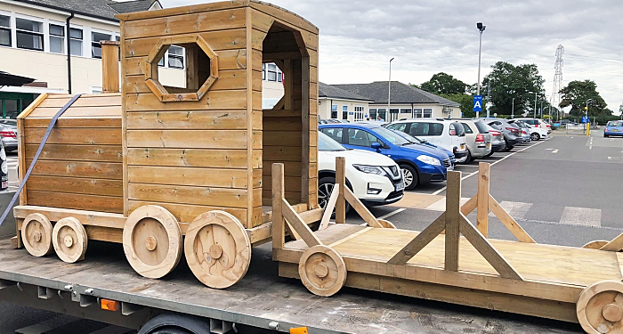 Timber Train - TFC Supplies to Leighton Hospital