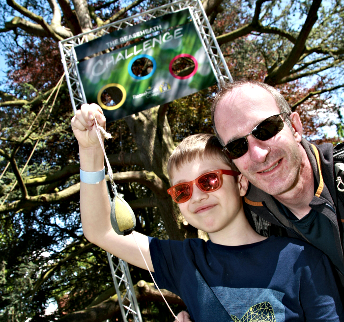 Toby Thornley, 9, and Dad Ben, had fun at the Reaseheath Target challenge