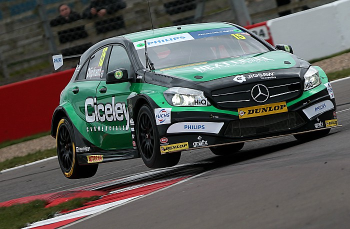 Tom Oliphant test drives Mercedes ahead of BTCC debut - pic by Jakob Ebrey Photography